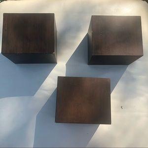 mini decorative block shelves